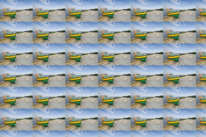 Vinylová Tapeta Rybářský člun na pobřeží - Prázdniny