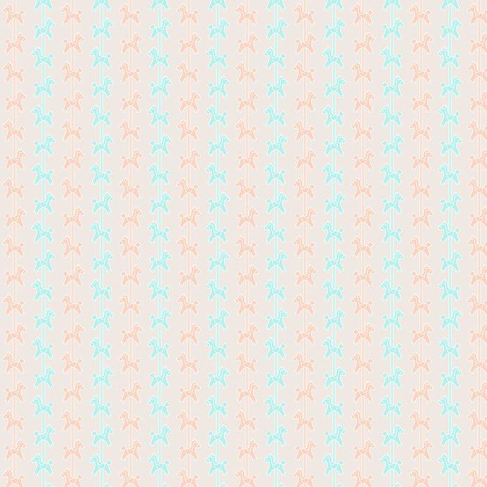 Vinylová Tapeta Carousel vzor - Pro předškolačku