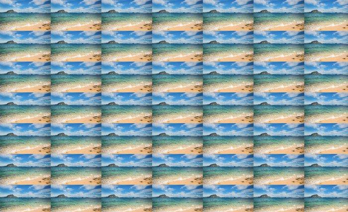 Vinylová Tapeta Dokonalá tropická krajina s ostrůvkem - Voda