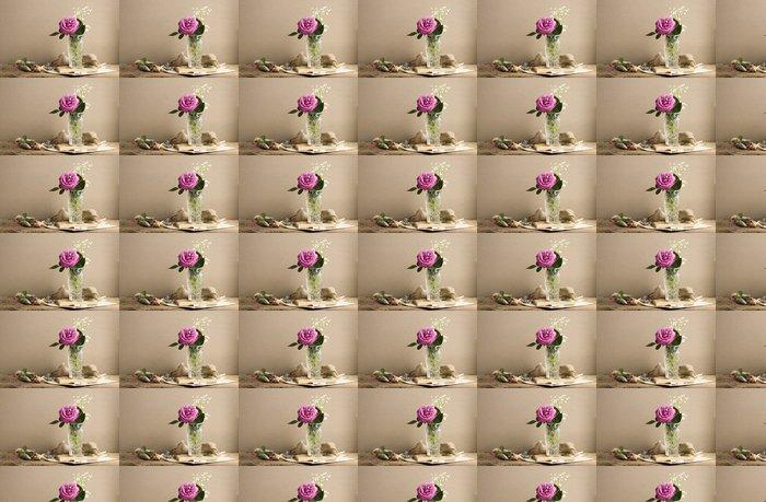 Vinylová Tapeta Roza - Květiny
