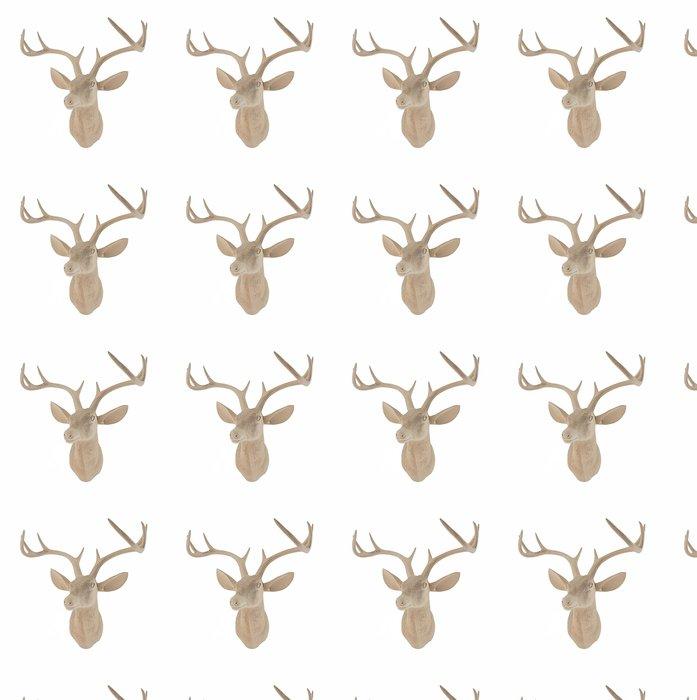 Vinylová Tapeta Dřevěná Deer Head - Savci