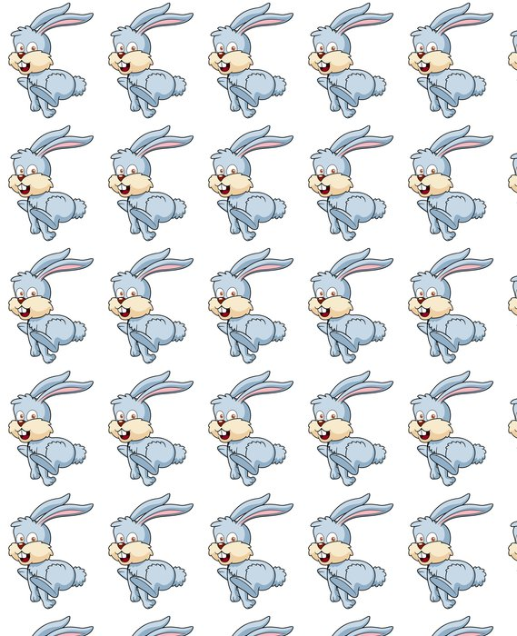 Vinylová Tapeta Ilustrace králíček karikatura - Nálepka na stěny