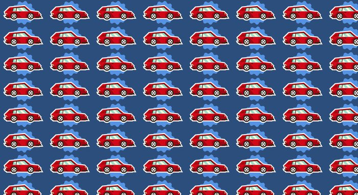 Vinylová Tapeta Autíčka ojedinělých bílým obrys na modrém pozadí. Vozidla cestovat. Nálepka pro děti na téma stroje. Vektorové ilustrace. ploché styl - Doprava