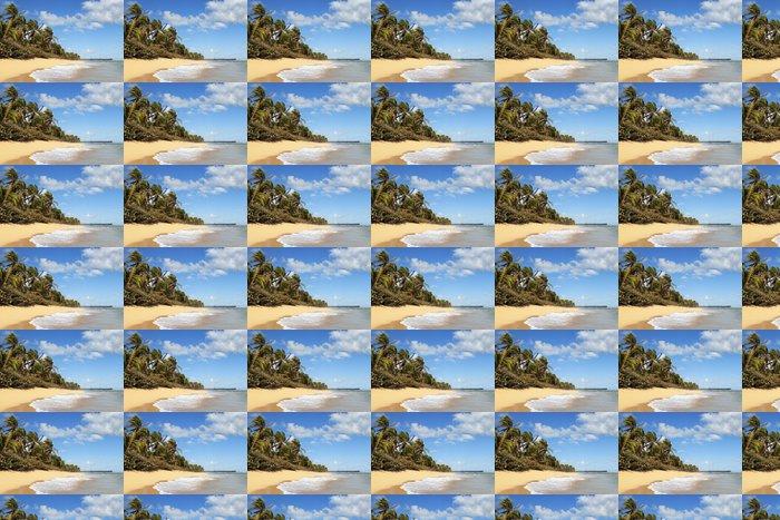 Vinylová Tapeta Krásné karibské pláži s palmami a nebe - Příroda