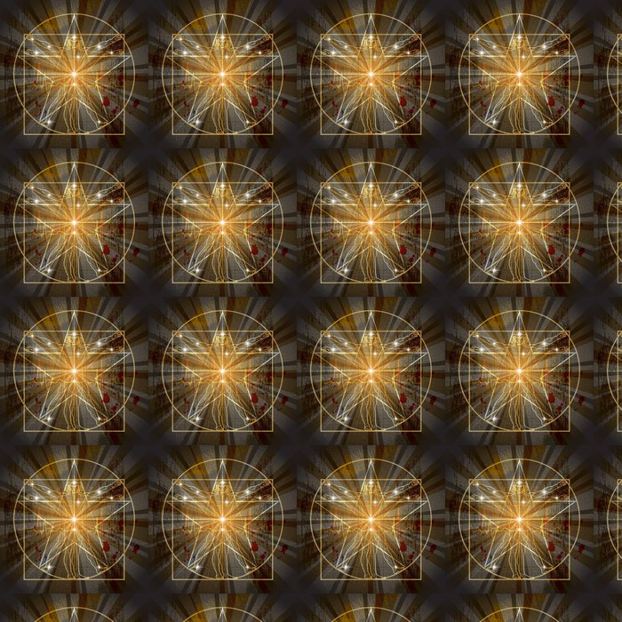 Vinylová Tapeta Vitruvian Man Zapsáno ve středověké Mystic Pentagramu - Ezoterika