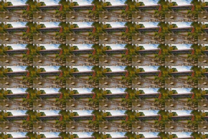 Vinylová Tapeta New England vztahuje během podzimní sezóny most - Roční období