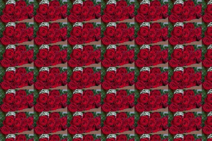 Vinylová Tapeta Krásné červené růže - Štěstí