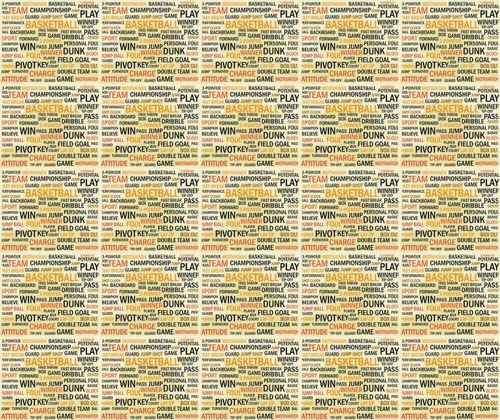 Vinylová Tapeta Grunge basketbal slovo mrak - Prodej