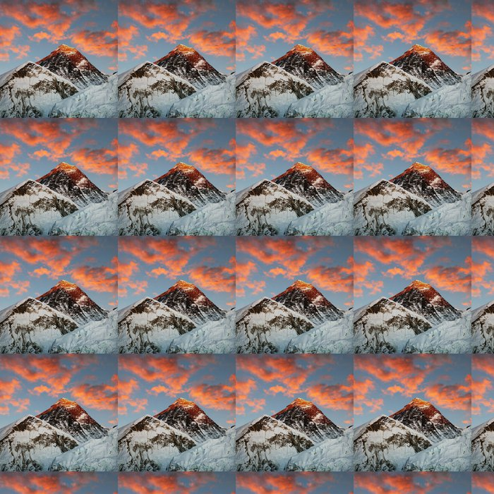 Vinylová Tapeta Večerní barevný pohled na Everest - Témata
