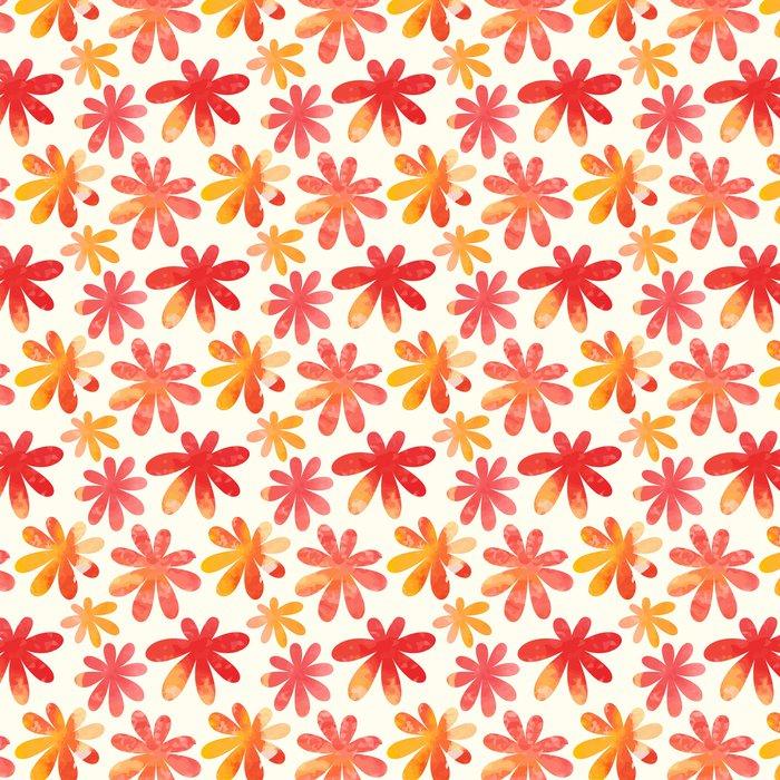 Vinylová Tapeta Květinový vzor bezešvé. Vektor akvarel květiny. - Roční období
