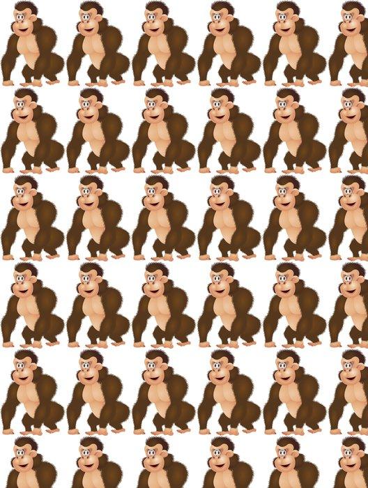 Vinylová Tapeta Gorila karikatura izolované - Savci