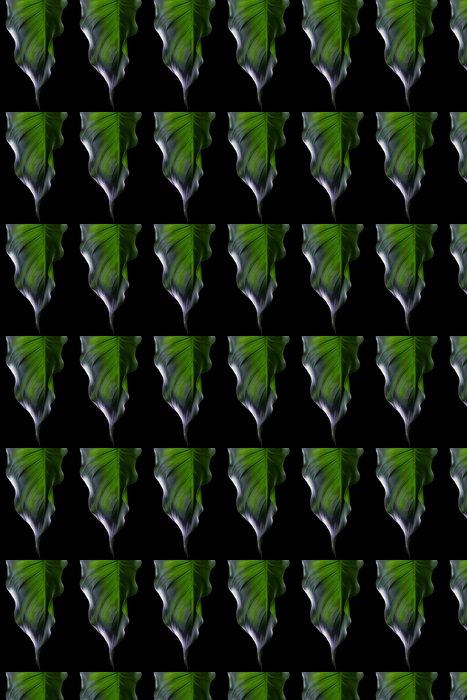 Vinylová Tapeta Green Leaf. Spa okolí - Životní styl, péče o tělo a krása