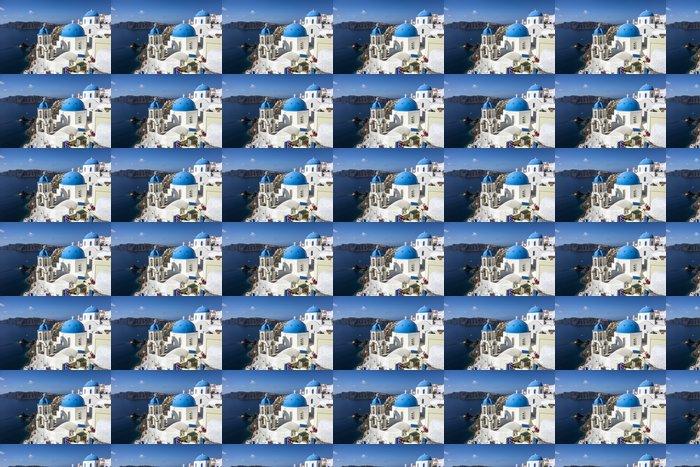 Vinylová Tapeta Modré a bílé kostel Oia vesnice - Evropská města
