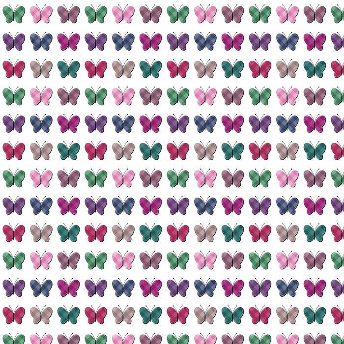 Vinylová Tapeta Zápisníku motýlů na bílém pozadí - Jiné objekty