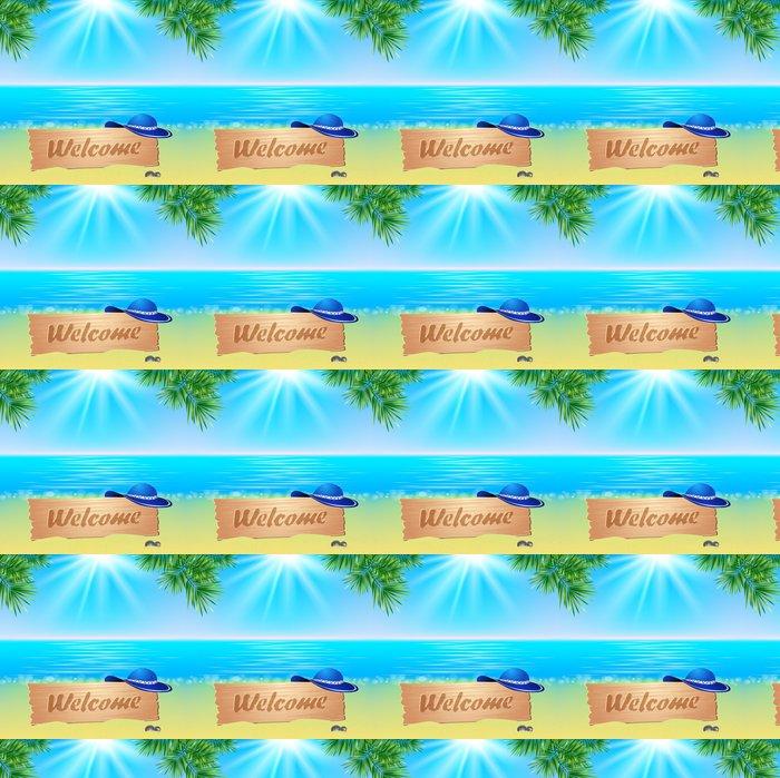 Vinylová Tapeta Summerl přímořské pohled plakát. Vektorové pozadí. - Oceánie
