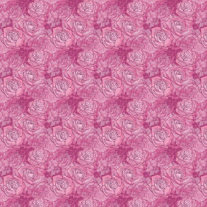 Vinylová Tapeta Bezešvé vzor s růžemi a krajkou - Styly