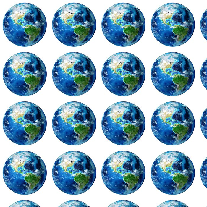 Vinylová Tapeta Modrý glóbus izolované - usa - Meziplanetární prostor