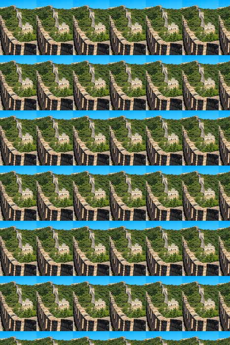 Vinylová Tapeta Velká zeď u Pekingu v Číně - Asie