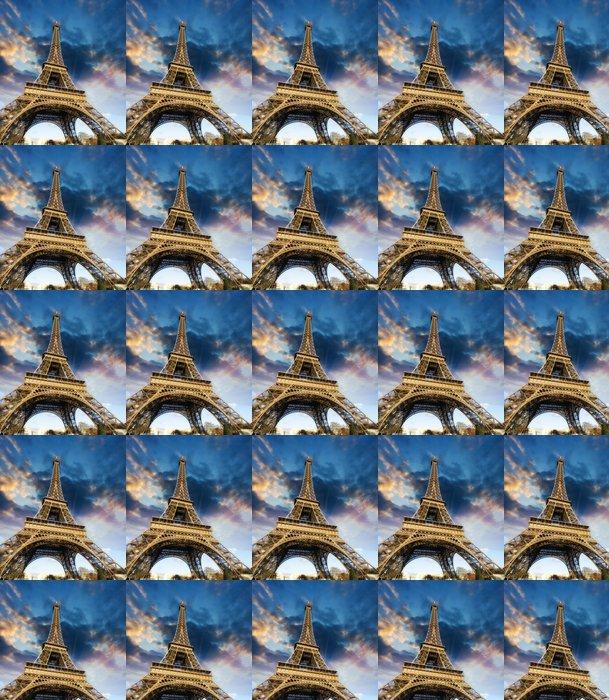 Vinylová Tapeta Krásné fotografie Eiffelova věž v Paříži s nádhernou oblohou c - Prázdniny