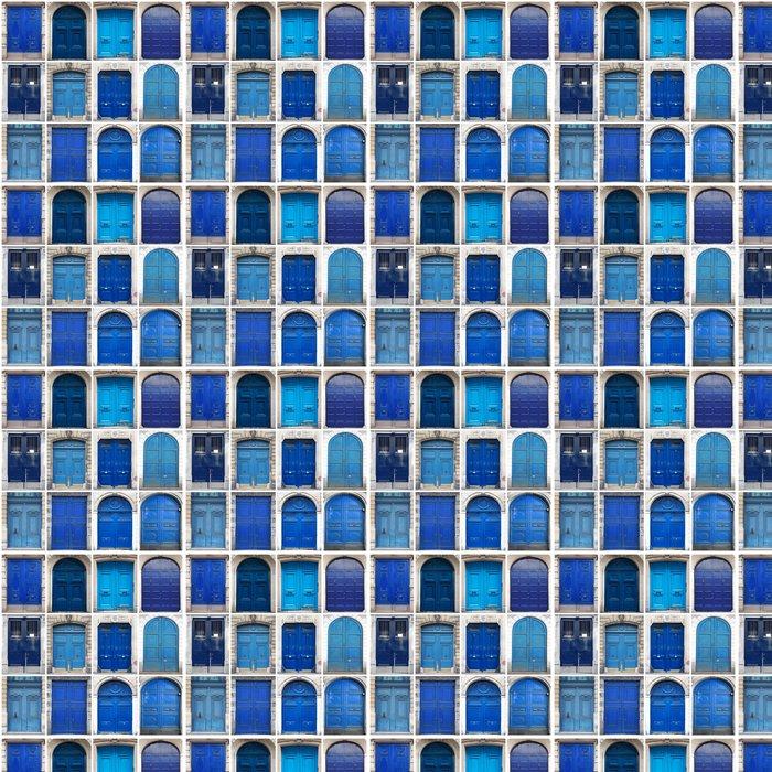 Vinylová Tapeta Brány modré koláže - Těžký průmysl