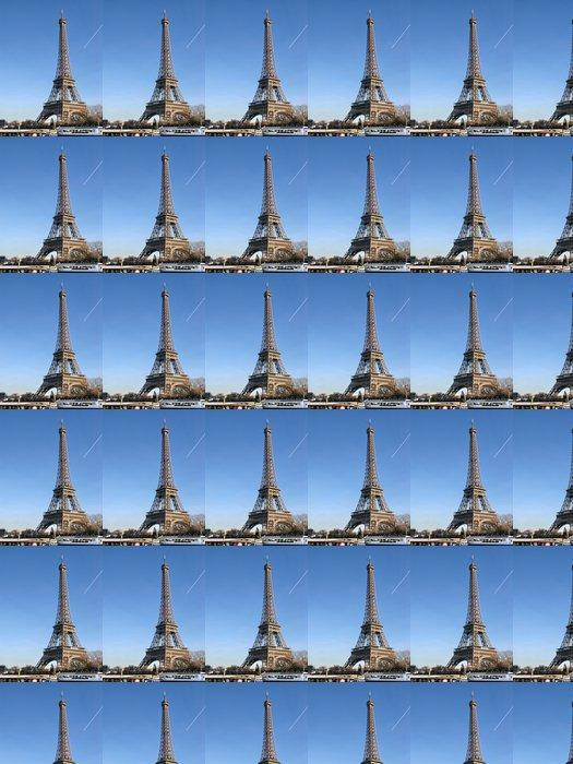 Vinylová Tapeta Eiffelova věž, modrá obloha a čluny. - Evropská města
