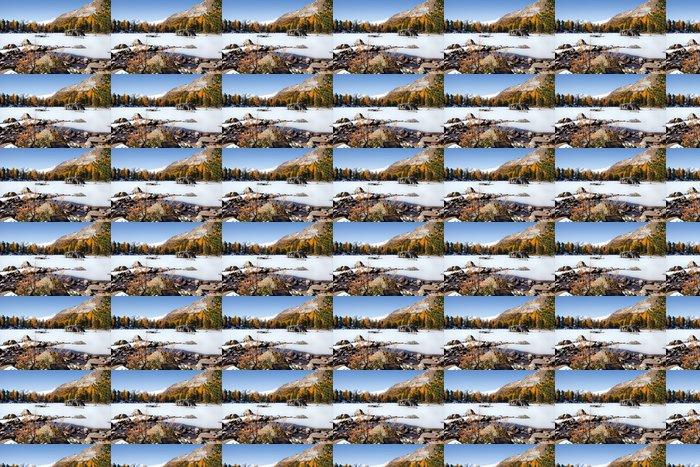 Vinylová Tapeta Švýcarské Alpy - podzimní krajina - Roční období