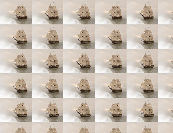 Vinylová Tapeta Vintage fregata chvíli spadne na okraj země - Styly