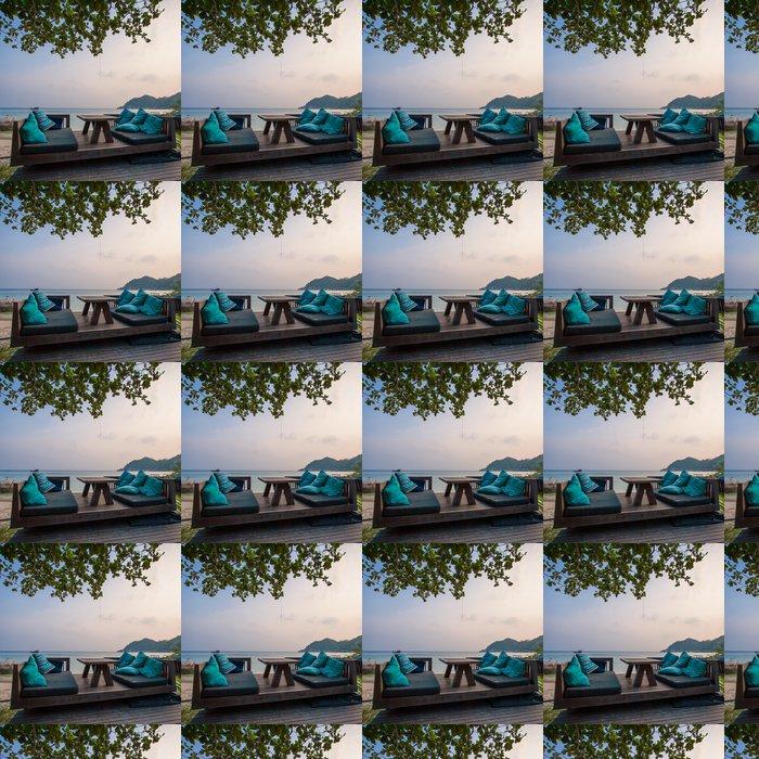 Vinylová Tapeta Večeře s výhledem na moře - Prázdniny
