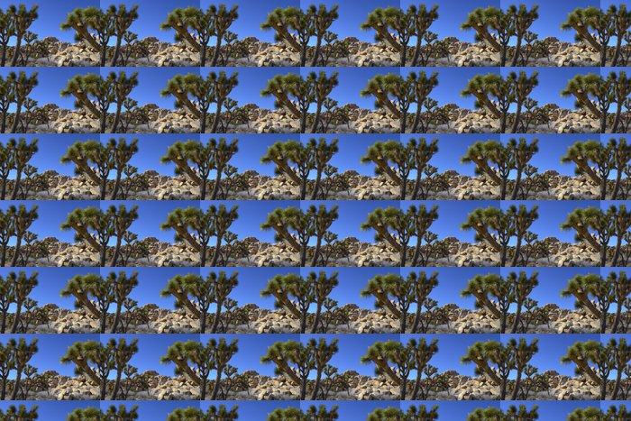 Vinylová Tapeta Joshua Tree a skály - Rostliny