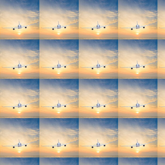 Vinylová Tapeta Západ slunce letadlo - Prázdniny