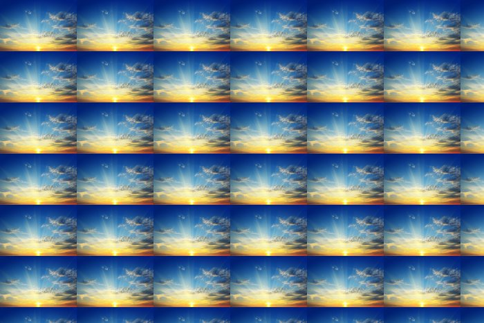 Vinylová Tapeta Slunce nad obzorem - Nebe