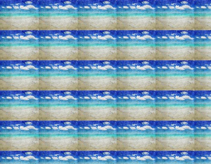 Vinylová Tapeta Grunge pláž - Roční období