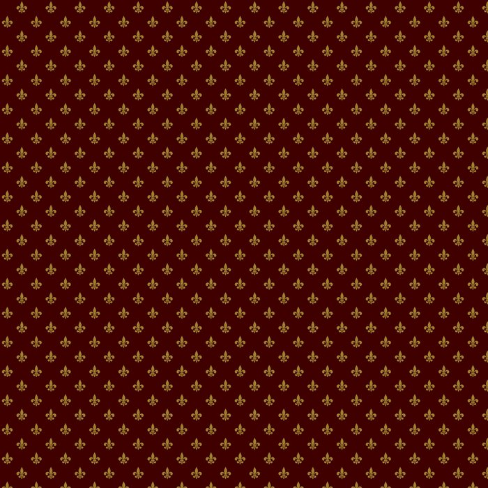 Vinylová Tapeta Royal Lily Fleur de Lis bezešvé vzor. Vektor - Styly
