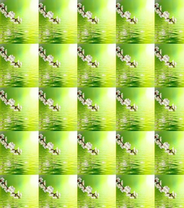 Vinylová Tapeta Obraz Kvetoucí větve nad vodou detailní - Roční období
