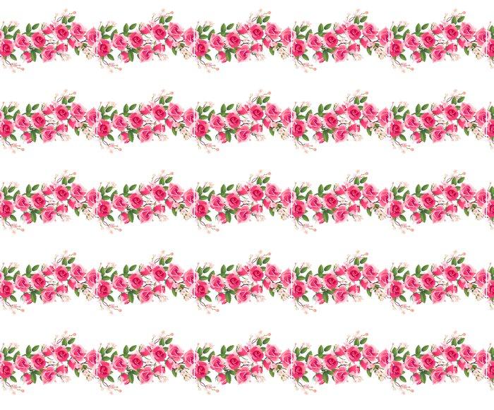 Vinylová Tapeta Horizontální bezešvé vzor růže - Květiny