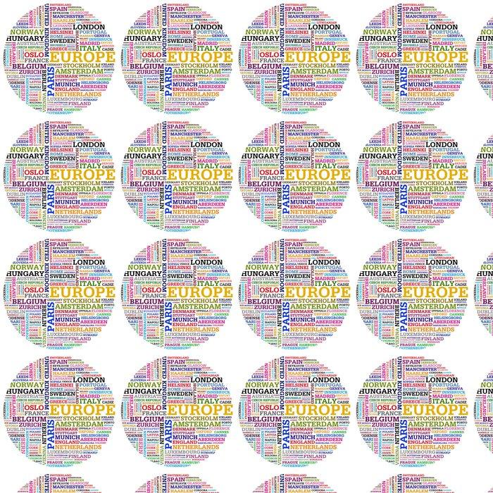 Vinylová Tapeta Evropa a země měst - Evropská města