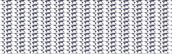 Vinylová Tapeta Weltkarte, mapa světa - Válcová Equal-Area - Doplňky a věci