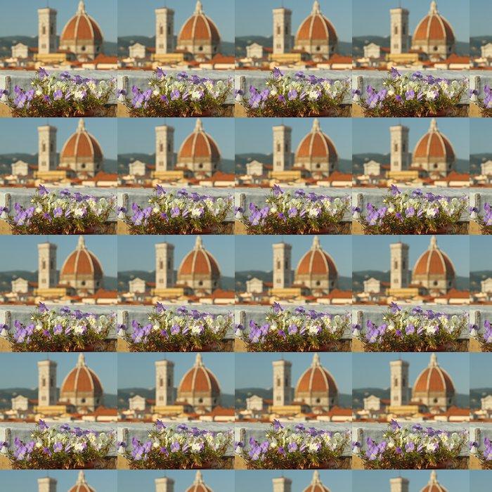 Vinylová Tapeta Střešní zahrada s výhledem na katedrálu ve Florencii - Evropa