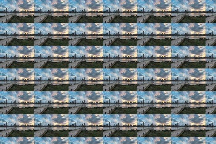 Vinylová Tapeta Šanghaj Bund v soumraku - Město