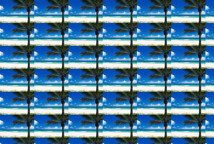 Vinylová Tapeta Palma na tropické pláži - Prázdniny