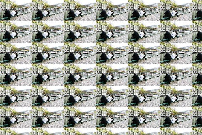 Vinylová Tapeta Bateau mouche sur le kanál Saint-Martin - Evropská města