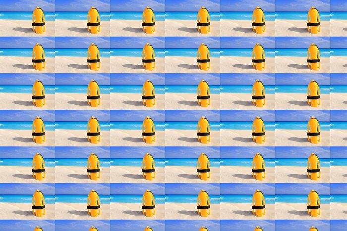 Vinylová Tapeta Baywatch záchranné bóje žluté na tropické pláži - Amerika
