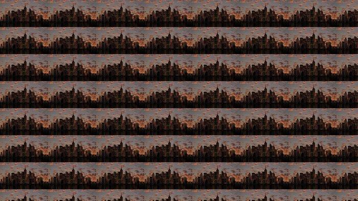 Vinylová Tapeta Město koncept - Amerika