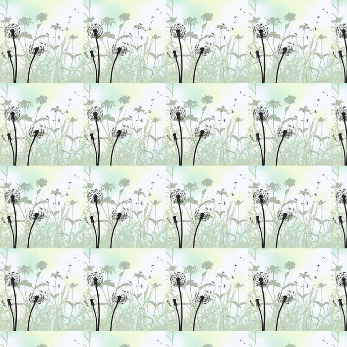Vinylová Tapeta Květinové pozadí, pampeliška louka diuring letního - iStaging 2