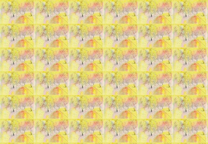 Vinylová Tapeta Podzimní krajina - Stromy