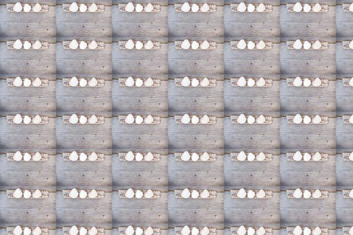 Vinylová Tapeta Cestovní pozadí - dřevo a mušle - Prázdniny
