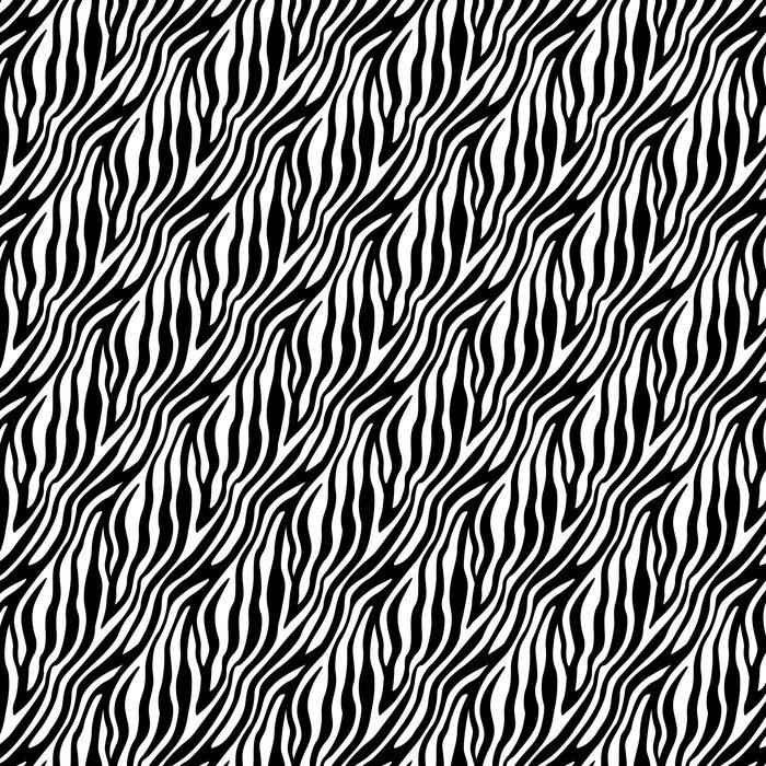 Vinylová Tapeta Zebra Stripes bezešvé vzor - Styly