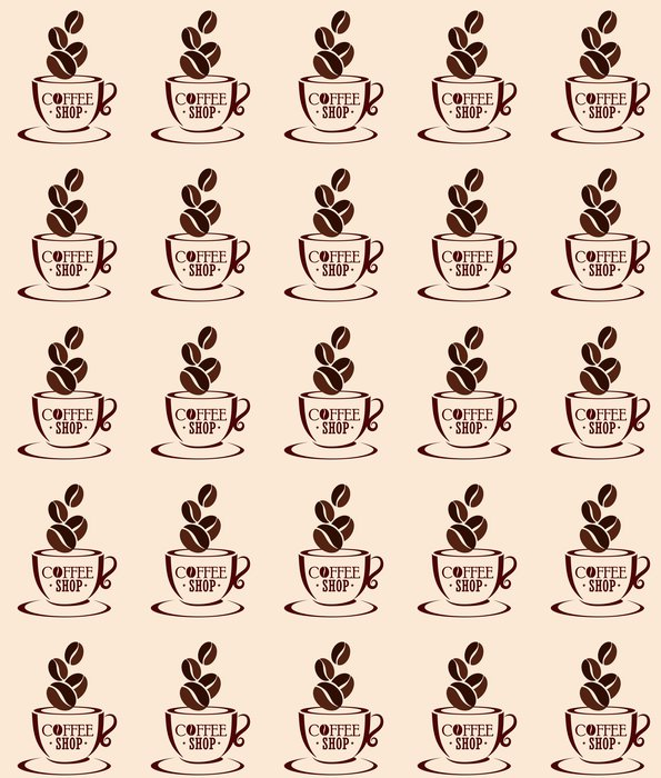 Vinylová Tapeta Kávu designu - Doplňky