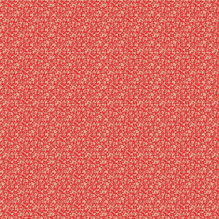 Vinylová Tapeta Červené a zlaté vánoční pozadí, bezešvé vzor součástí - Mezinárodní svátky