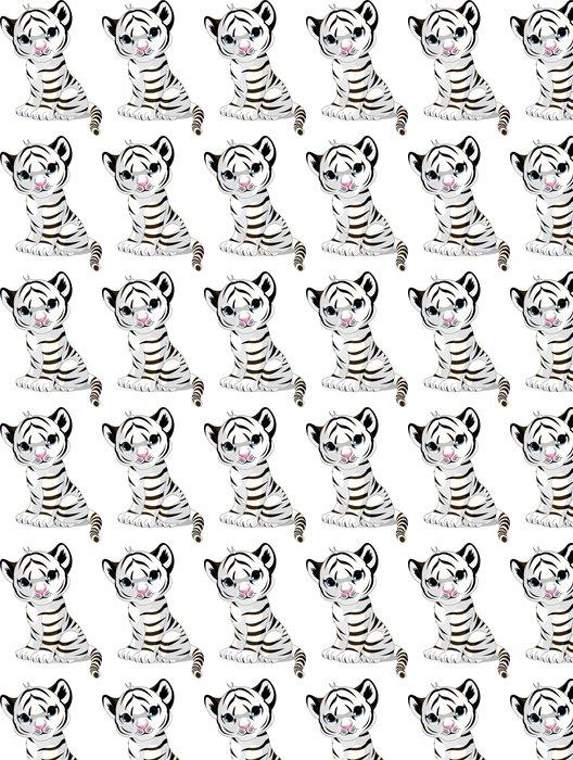 Vinylová Tapeta Roztomilý bílý tygřík - Savci
